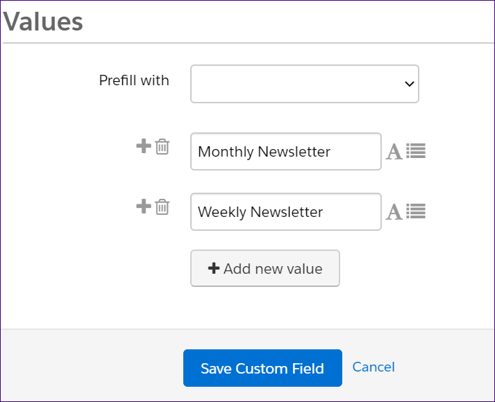Preview of Pardot field values