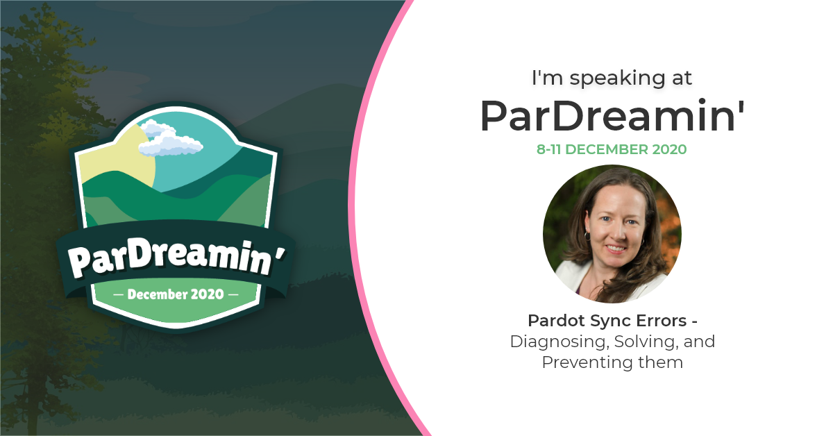 I'm speaking at ParDreamin' 2020